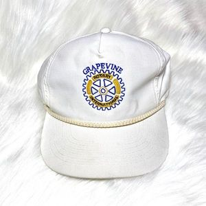 Vintage Grapevine Hat Rotary Club Cap 80s 90s